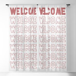 Welcome Sheer Curtain
