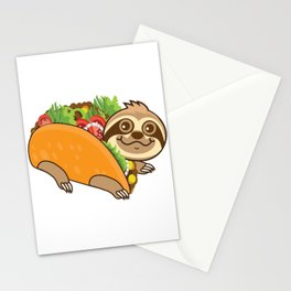 Sloth Taco Stationery Cards