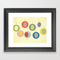 Christmas Baubles Framed Art Print