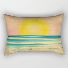 Ocean Sunset 1.0 Vintage Rectangular Pillow