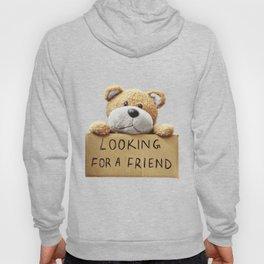 Looking for a Friend Teddy Bear Hoody