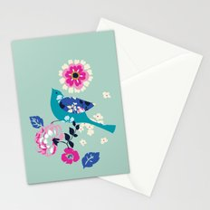 Birds and Blooms 3 Stationery Cards