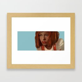 leeloo - the fifth element Framed Art Print