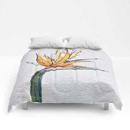 Bright Tropical Flower  Comforters