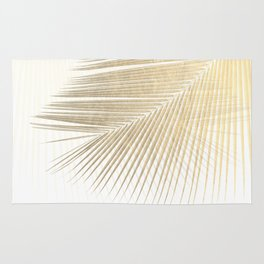 Palm leaf synchronicity - gold Rug