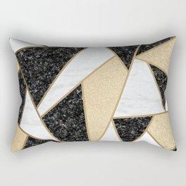 Black white golden Rectangular Pillow