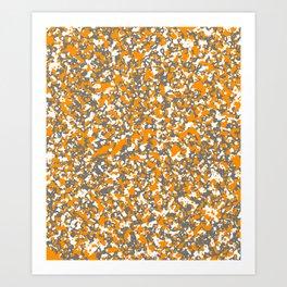 Digicam 16 - Orange Crushed Art Print