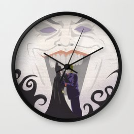 The Face Off Wall Clock
