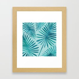 Mid Century Tiki Fronds Framed Art Print