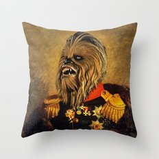 Portrait of Master Chewie Throw Pillow