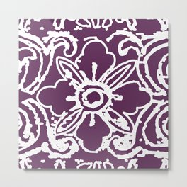 Tibetan flower purple Metal Print