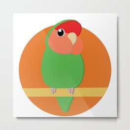 Peach Faced Lovebird Metal Print