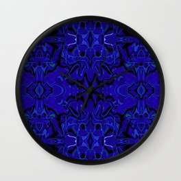Midnight Madness Abstract Wall Clock