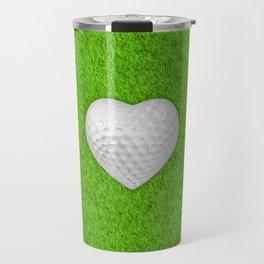 Golf ball heart / 3D render of heart shaped golf ball Travel Mug