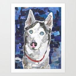 Mallee The Husky Art Print