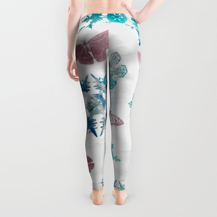 Snowflakes and Butterflies Leggings