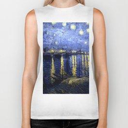 """Vincent Van Gogh """"Starry Night Over the Rhone"""" Biker Tank"""