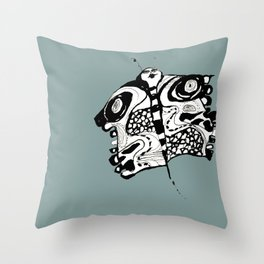 Butterfly GREEN Throw Pillow
