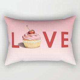 Pink Cupcake LOVE Rectangular Pillow