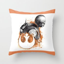 Rogue droid Throw Pillow