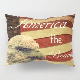 America the Beautiful Rustic Flag A109 Pillow Sham