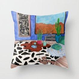 Mid Century Desert Home Throw Pillow
