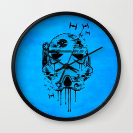 Storm is coming blue Wall Clock