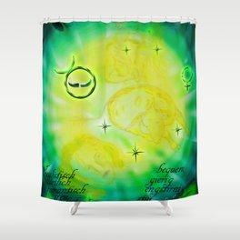 Stenzeichen - Stier Shower Curtain