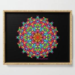Psychedelic Porcupine Mandala Serving Tray