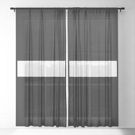 Minus Sign (White & Black) Sheer Curtain