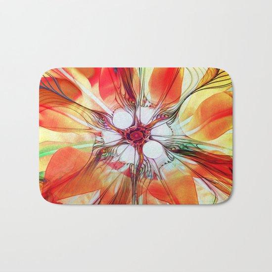 Flower in Fractal Bath Mat