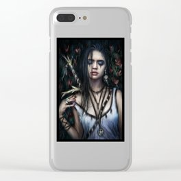 In the Rose Garden Clear iPhone Case