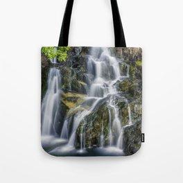 Aqua Waterfall Tote Bag