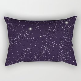Universe with planets and stars seamless pattern, cosmos starry night sky 005 Rectangular Pillow