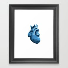 Heart - Blue Framed Art Print