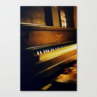 piano Canvas Prints featuring piano by Liz Morrison Smith