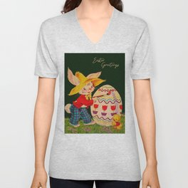 Peter Cottontail - Easter Greetings Unisex V-Neck