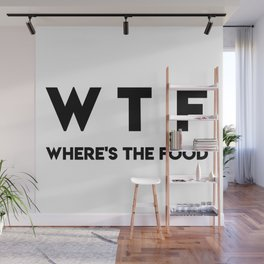 WTF Where's The Food Wall Mural