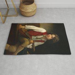 "William-Adolphe Bouguereau ""Italien à la mandoline (Italian with mandolin)"" Rug"