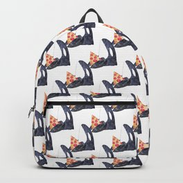 Orca whale with pizza watercolor Backpack