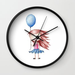 Balloon Love - Stay Grounded Wall Clock