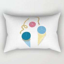 Be Blue Rectangular Pillow