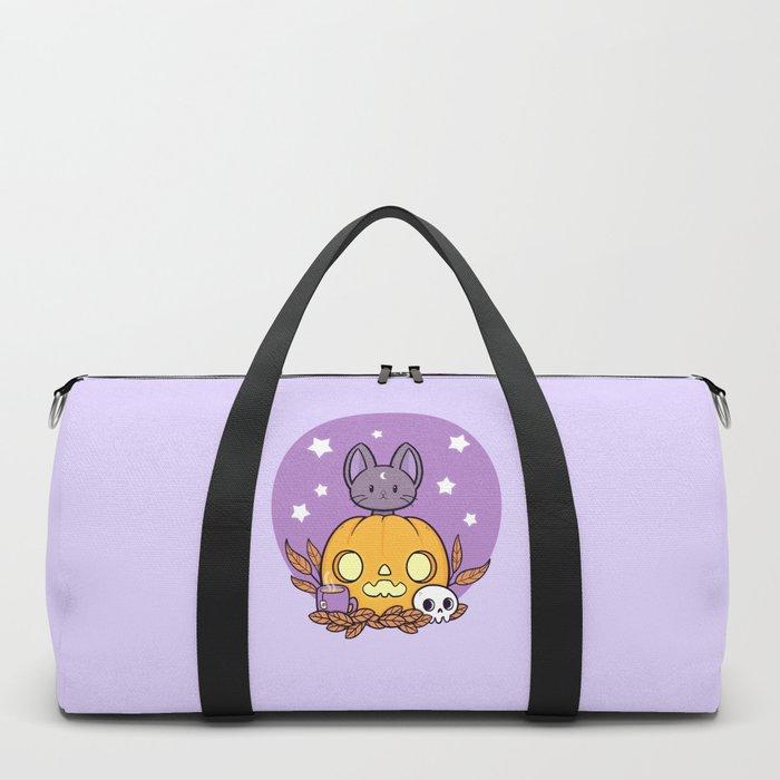 Pumpkin Cats Son Duffle Bag