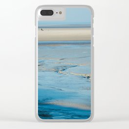Blue sand of the sea Clear iPhone Case