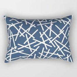 Kerplunk Navy and White Rectangular Pillow