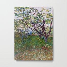 Flowering Orchard Metal Print
