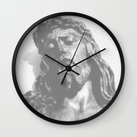 jesus Wall Clocks featuring Jesus by Geni