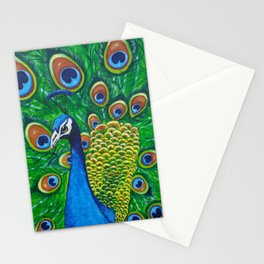 On Display - Peacock Stationery Cards