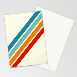 Alator - Classic 70s Retro Summer Stripes Stationery Cards