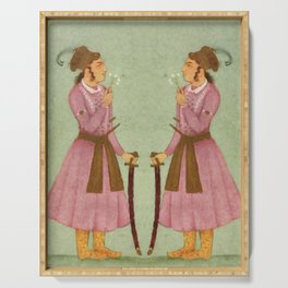 Akbar - Mughal Emperor Folk Hero Serving Tray